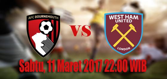 prediksi-skor-bournemouth-afc-vs-west-ham-united-11-maret-2017
