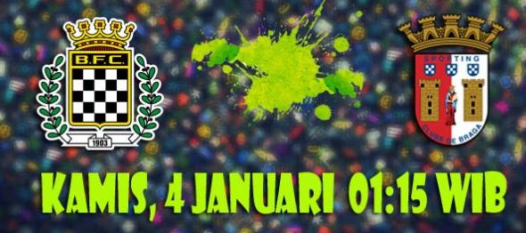 Prediksi Boavista vs Sporting Braga 4 Januari 2018
